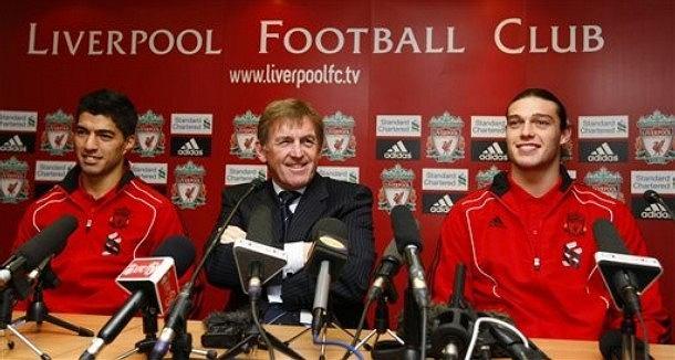 Luis Suarez, Kenny Dalglish i Andy Carroll