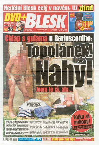 Gazeta Blesk, okładka