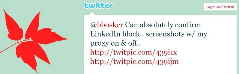 Zablokowany LinkedIn