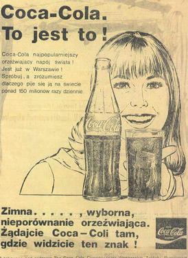 Coca-Cola to jest to! Slogan Agnieszki Osieckiej