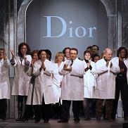 Employees of fashion house Christian Dior applaud after the Christian Dior Spring/Summer 2012 ready-to-wear collection show on March 4, 2011 in Paris. Dior presented its collection today by British designer John Galliano who was sacked by the fashion house after a video surfaced in which he declares