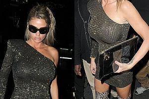 Katie Price lub jak kto woli Jordan, to jedna z najpopularniejszych brytyjskich celebrytek. Słynie przede wszystkim z wielkich piersi, seksownej figury i skandali. Jak połączyć te trzy rzeczy w jedno? Oczywiście wystarczy założyć mocno opinającą sukienkę, dodać trochę panterki, to i ówdzie obsunąć i zainteresowanie fotoreporterów gotowe. Zobaczcie jak wyglądała Jordan.