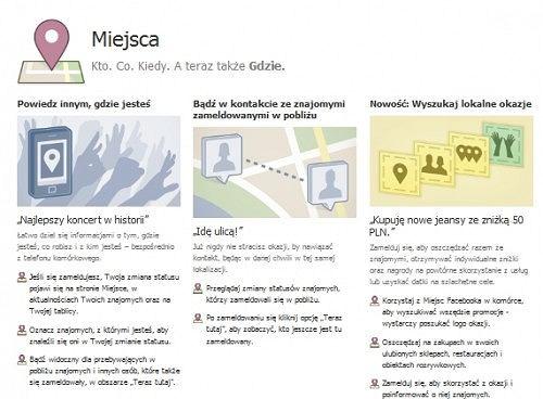 Facebook Places już w Polsce