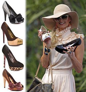 Paris Hilton promuje swoją kolekcję butów, obuwie, szpilki, czółenka