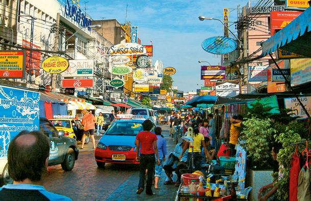 Bangkok, Tajlandia, dzielnica Khao San Road