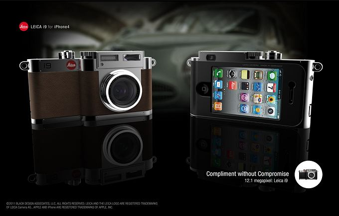 Aparat fotograficzny i przystawka do iPhone'a 4 w jednym