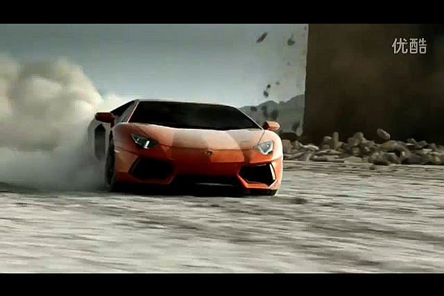 Reklama Aventadora, nowego modelu Lamborghini