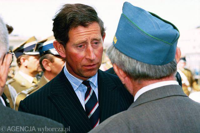 Książe Karol podczas wizyty