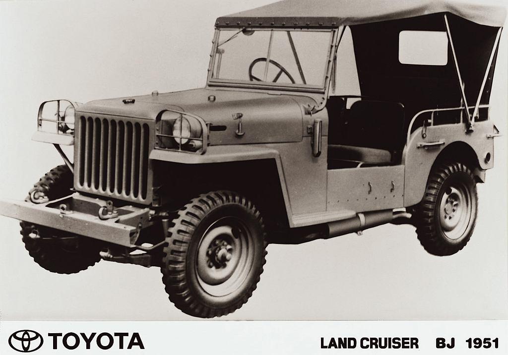 BJ - pierwsza Toyota Jeep 4WD z 1951 r.