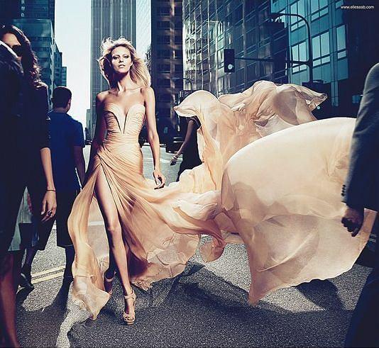 Anja Rubik w kampanii perfum Elie Saab