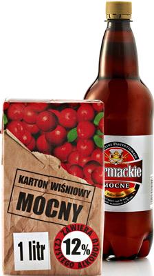 jabol,alkohole,piwo,bełt,siara, Karton wiśniowy mocny , Sarmackie mocne