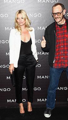 Kate Moss i Terry Richardson na pokazie Mango (jesień/zima 2011/2012)