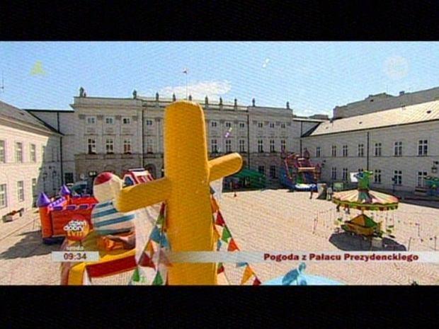 Pałac prezydencki jak plac zabaw