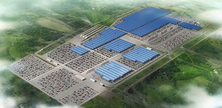 Panele słoneczne pokryją obszar odpowiadający rozmiarem 63 boiskom piłkarskim