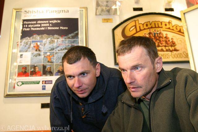 Darek Załuski (z prawej) z nieżyjącym już znakomitym polskim himalaistą Piotrem Morawskim