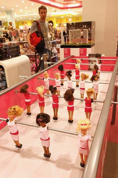 Barbie piłkarzyki
