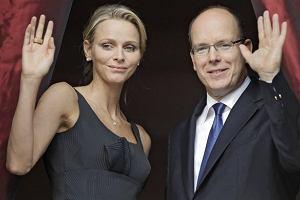 Książę Albert i Charlene Wittstock.
