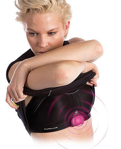 Stanik sportowy Compression Bra HRM marki Pure Lime z czujnikiem tętna