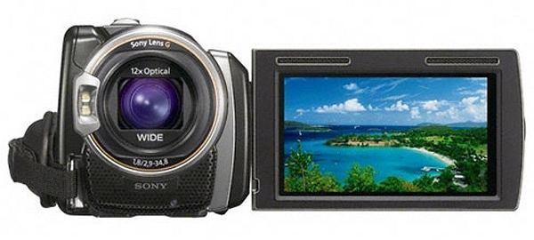 SONY Handycam HDR-PJ50 - widok z przodu