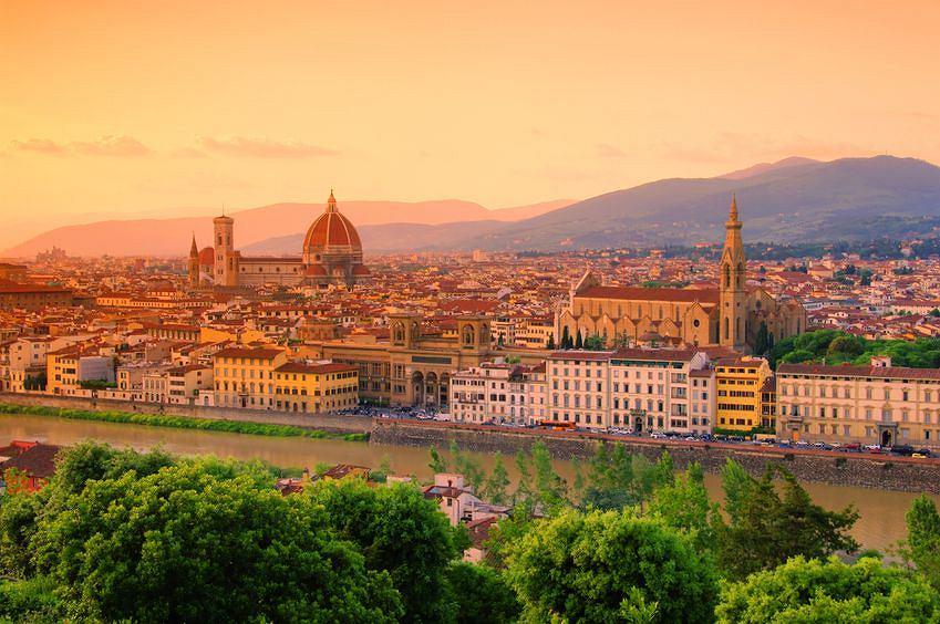 Florencja o zachodzie słońca