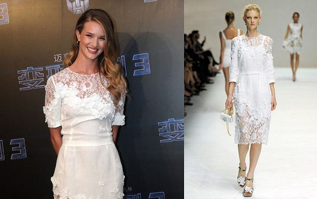 Rosie Huntington-Whiteley na premierze Transformers w Szanghaju