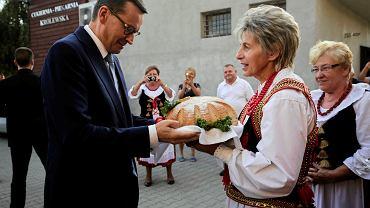 Premier rządu PiS Mateusz Morawiecki agituje w Węgrzycach Wielkich. 18 września 2018