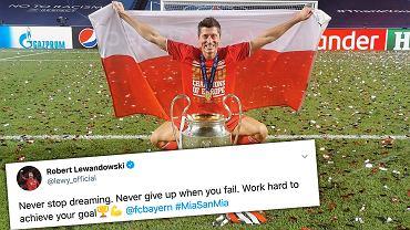 Robert Lewandowski skomentował triumf w Lidze Mistrzów