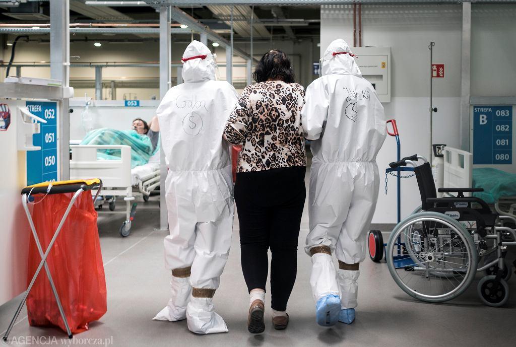 Szpital podczas epidemii koronawirusa.