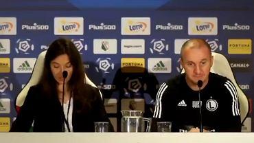 Konferencja prasowa po meczu Legia - Jagiellonia