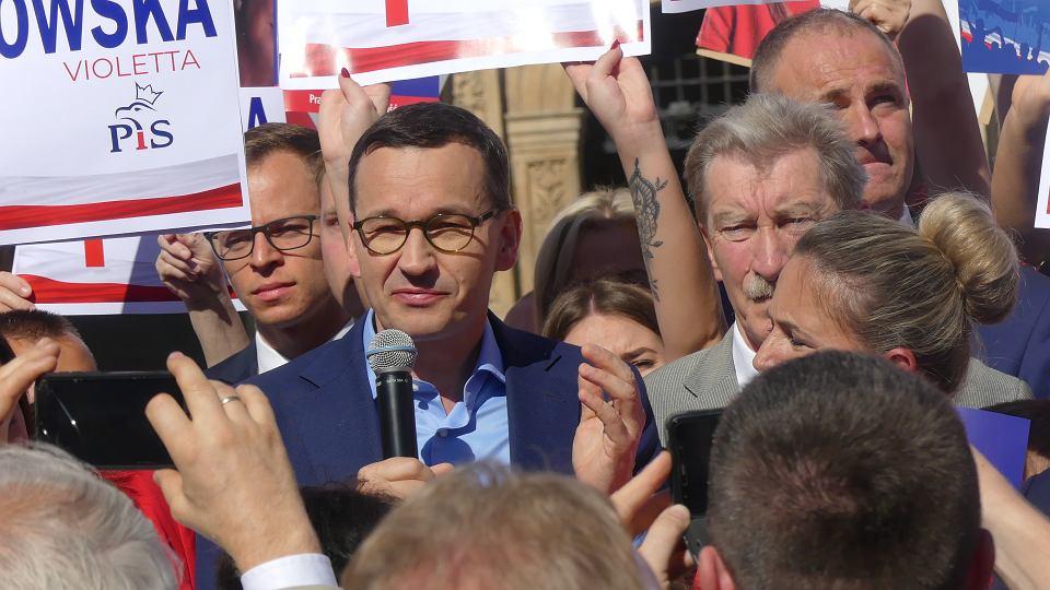 22.09.2019. Premier Mateusz Morawiecki w ramach kampanii przed wyborami parlamentarnymi 2019 odwiedził Brzeg.