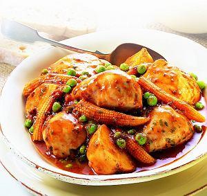Cudna zapiekanka z warzyw i nóżek kurczaka