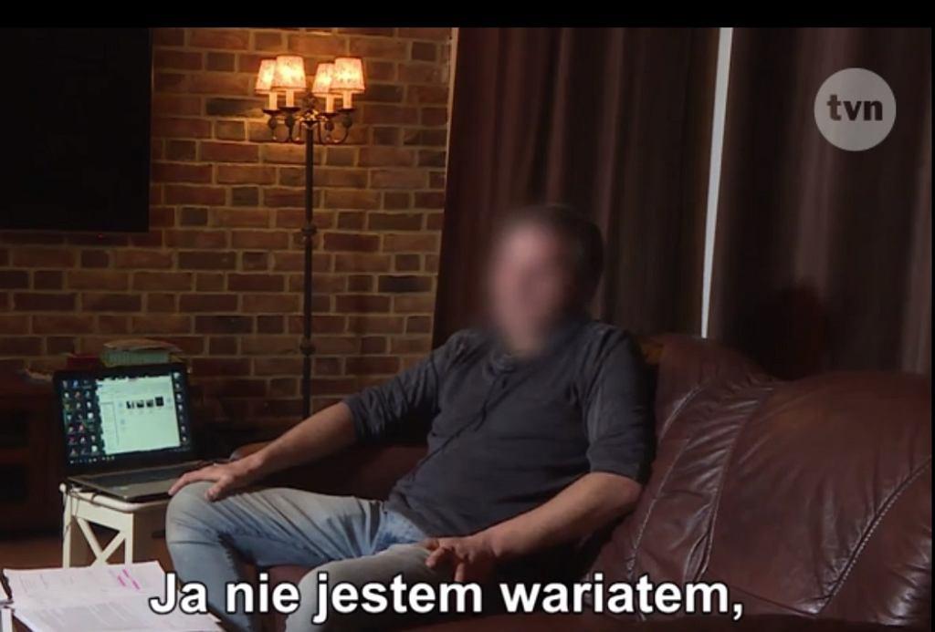 Mężczyzna, który otruł siebie i synka w sali zabaw, w 'Uwadze' TVN