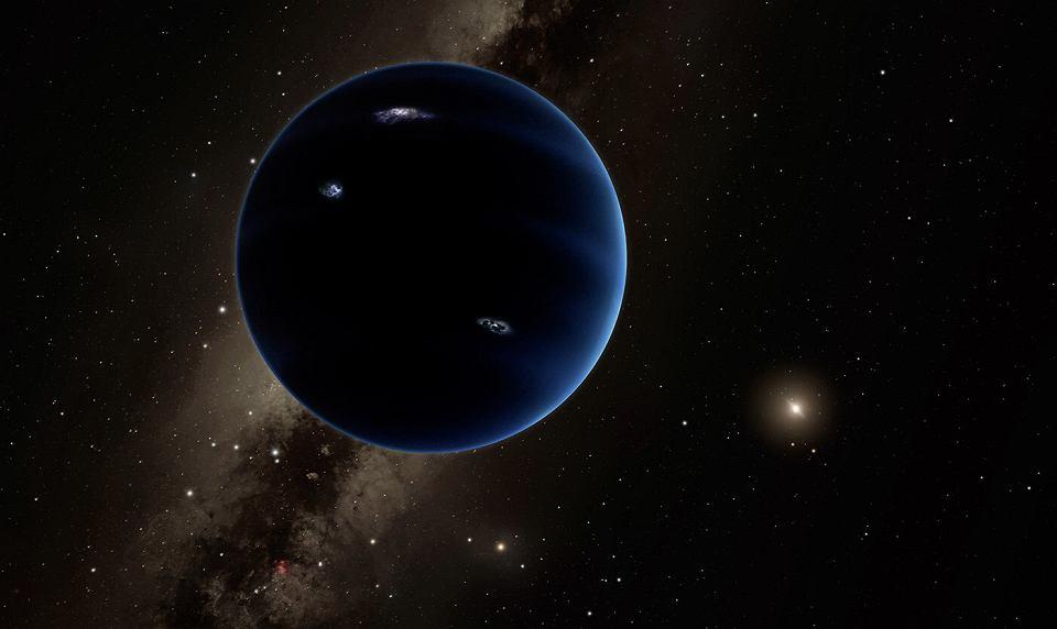 Wizja artystyczna hipotetycznej dziewiątej planety w Układzie Słonecznym