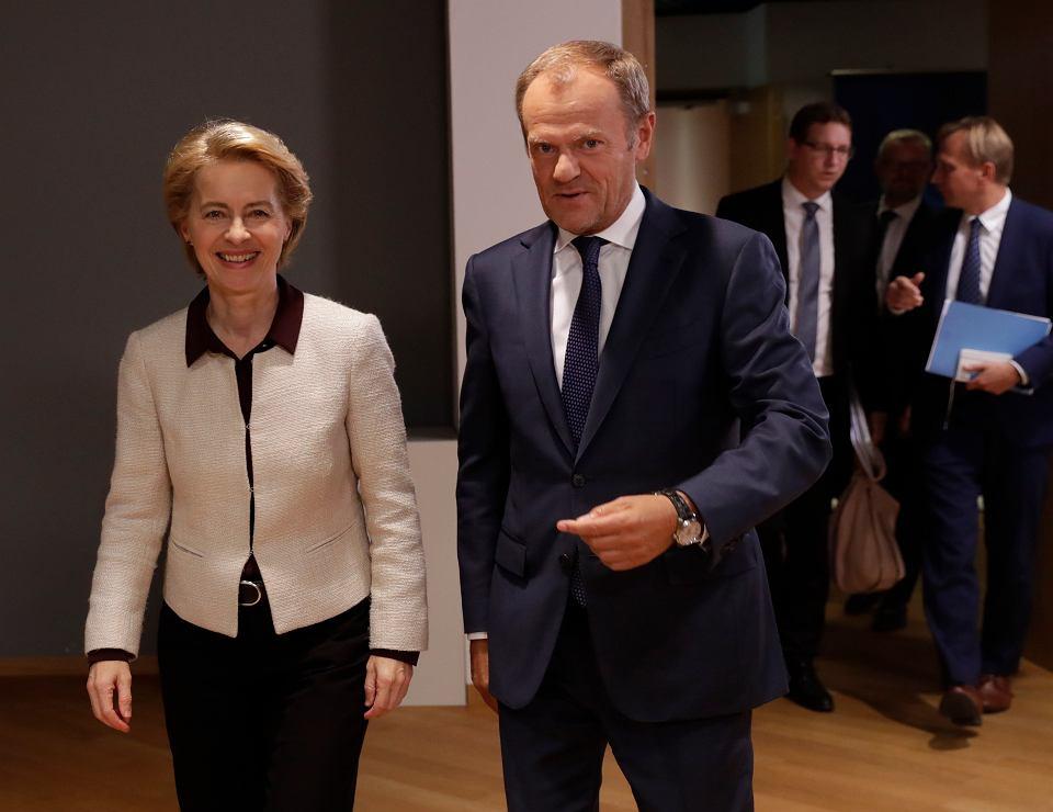 Ursula von der Leyen i Donald Tusk, Bruksela 30.09.2019