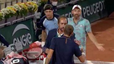 Roland Garros. Awantura w meczu deblowym Hurkacza