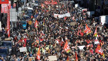 Protesty antyrządowe we Francji. Marsylia 22.03.2018 r.