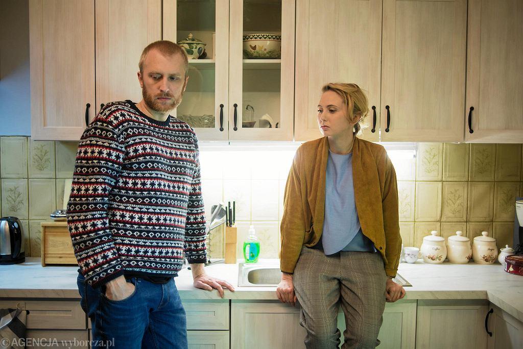 Justyna Wasilewska i Dobromir Dymecki na  probie spektaklu ' Cząstki Kobiety ', reż. Kornél Mundruczó  / MACIEK JAŹWIECKI