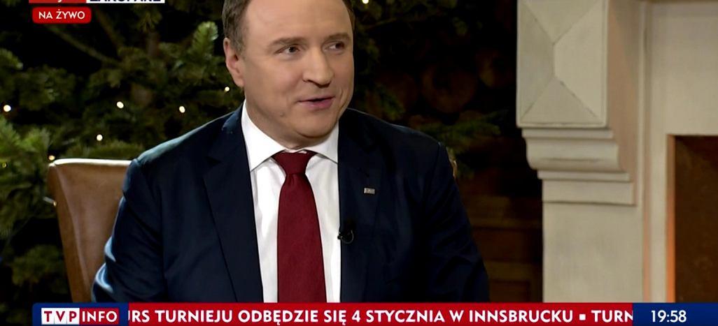 Jacek Kurski opowiada w TVP o sukcesie sylwestra z Dwójką i żonie