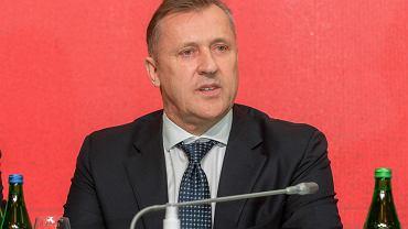 Cezary Kulesza podczas walnego zgromadzenia delegatów PZPN, 18 sierpnia 2021 r.