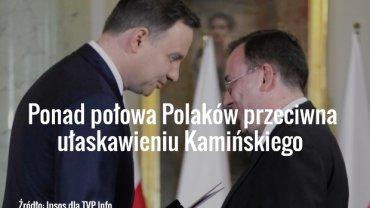 Andrzej Duda wręcza nominację ministerialną Mariuszowi Kamińskiemu