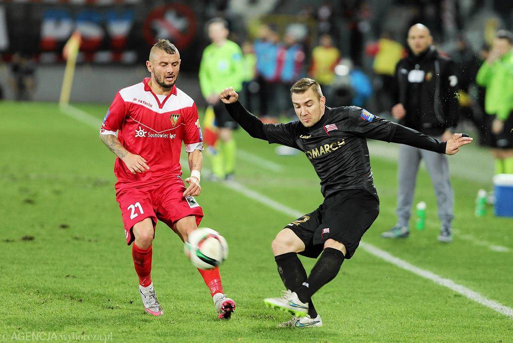 Jakub Wilk w meczu z Cracovią