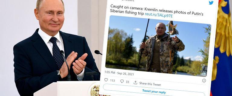 Rosja. Władimir Putin na urlopie łowił ryby i spał w namiocie