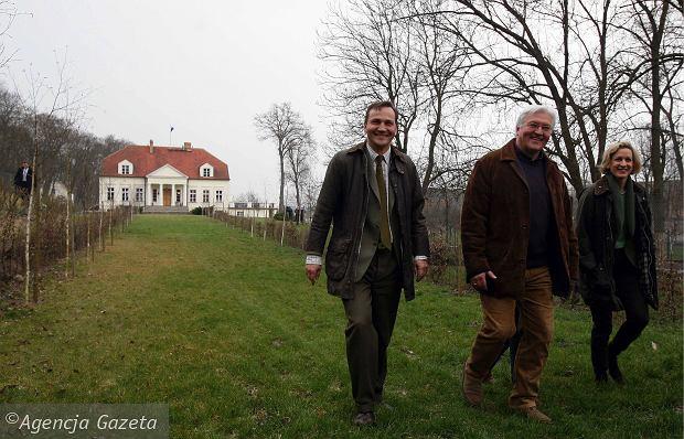 Chobielin, dworek Radosława Sikorskiego, Walter Steinmeier z żoną