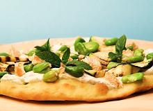 Zielone na talerzu - pizza z bobem  - ugotuj