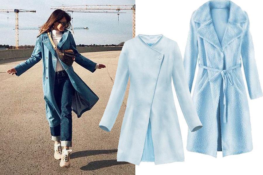 niebieskie płaszcze / mat. partnera