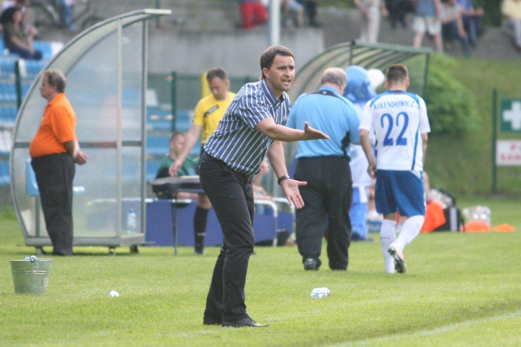 Trener Tomasz Kafarski