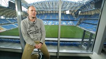 Piotr Reiss na stadionie