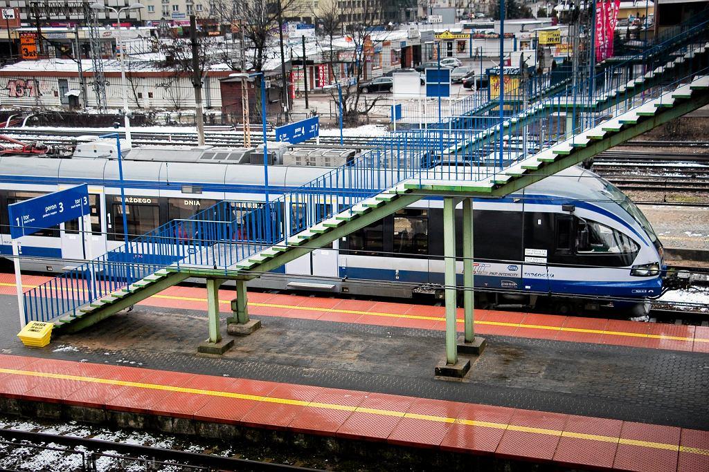 Skład Pesa ED - 74, dworzec kolejowy w Białymstoku