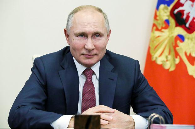 Prezydent Władimir Putin podczas wideokonferencji. Podmoskiewska rezydencja Nowo-Ogariowo, 30 grudnia 2020 r.