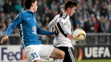 Lech Poznań - FC Basel 0:1. Marcin Kamiński